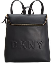 DKNY Tilly Top-zip Bucket Backpack, Created For Macy's - Black