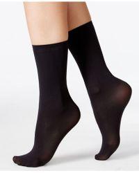 Hue - Women's Opaque Anklet Socks - Lyst