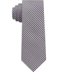 DKNY - City Check Ii Silk Slim Tie - Lyst