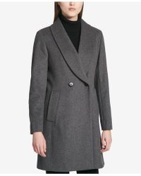 Calvin Klein | Shawl-collar Double-breasted Coat | Lyst