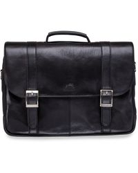 "Mancini Arizona Collection Porthole 15.6"" Laptop / Tablet Briefcase - Black"
