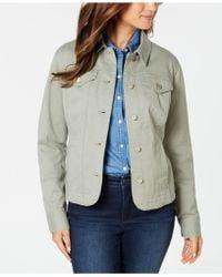Charter Club Denim Jacket, Created For Macy's - Green
