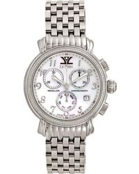 Le Vian - Diamond Unisex Stainless Steel Bracelet Watch (1/2 Ct. T.w.) 36mm Zag203 - Lyst