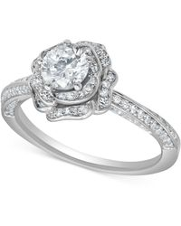 Marchesa - Certified Diamond Rose Engagement Ring (1 Ct. T.w.) In 18k White Gold - Lyst