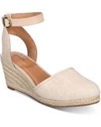 Style & Co. Mailena Wedge Espadrille Sandals, Created For Macy's - Natural
