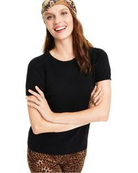 Charter Club Cashmere Crewneck Sweater, Created For Macy's - Black