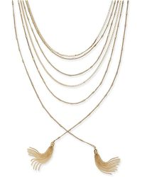 """INC International Concepts - Gold-tone Multi-chain & Tassel Layered Necklace, 17"""" + 3"""" Extender - Lyst"""