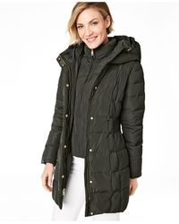Cole Haan - Hooded Down Puffer Coat - Lyst