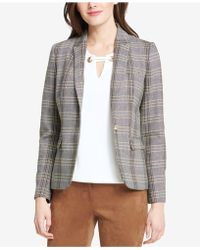Tommy Hilfiger - One-button Plaid Elbow-patches Jacket - Lyst