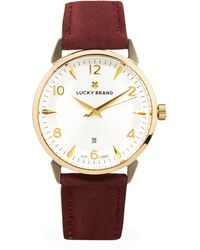 Lucky Brand Torrey Berry Leather Strap Watch 34mm - Multicolor