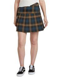 Dickies Seamed Plaid Skirt - Blue