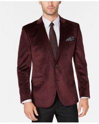 Kenneth Cole Reaction Slim-fit Velvet Sport Coat, Online Only - Purple