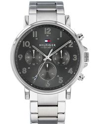 Tommy Hilfiger Stainless Steel Bracelet Watch 44mm Created For Macy's - Metallic