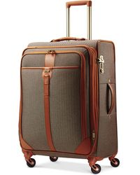 "Hartmann Closeout! Herringbone Luxe 25"" Medium Journey Expandable Spinner Suitcase - Green"