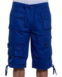 "Sean John Big & Tall 15"" Classic Flight Cargo Shorts - Blue"