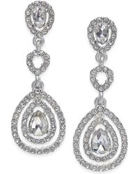 Charter Club - Gold-tone Crystal And Pavé Orbital Drop Earrings, - Lyst