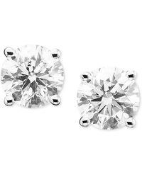 Macy's Diamond Stud Earrings In 14k White Gold (1 Ct. T.w.) - Multicolour