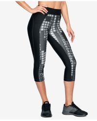 Under Armour - Heatgear® Printed Capri Leggings - Lyst