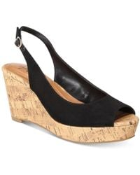 Style & Co.   Sondire Platform Wedge Sandals, Created For Macy's   Lyst