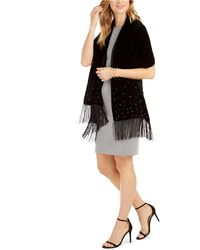 INC International Concepts - Inc Embellished Velvet Wrap With Fringe, Created For Macy's - Lyst