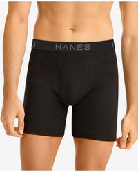 Hanes 5-pk. Performance Boxer Briefs - Black