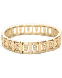 Lucky Brand Gold-tone Geometric Link Stretch Bracelet - Metallic