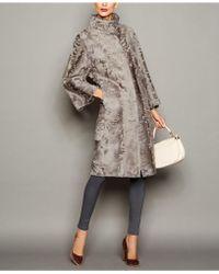 The Fur Vault Persian Lamb Fur Coat - Gray