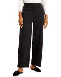 Eileen Fisher Wide-leg Pants - Black
