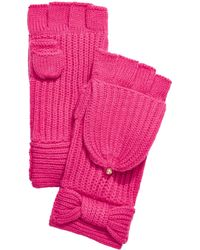 Kate Spade Bow Pop Top Mittens - Pink