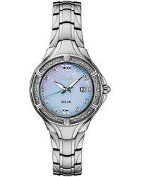 Seiko - Solar Diamond Collection Diamond-accent Stainless Steel Bracelet Watch 29mm - Lyst