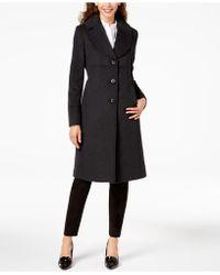 Jones New York - Notch-collar Walker Coat - Lyst