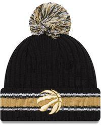 1c19cee0d Lyst - Ktz Minnesota Timberwolves Basic Chunky Pom Knit Hat in Black ...