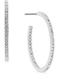 Danori - Silver-tone Pavé Hoop Earrings - Lyst