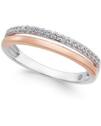 Macy's - Diamond Two-tone Band (1/8 Ct. T.w.) - Lyst