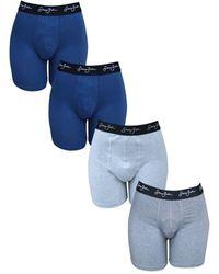 Sean John Stretch Boxer Brief, Pack Of 4 - Blue