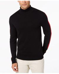 Alfani - Striped-sleeve Turtleneck Sweater, Created For Macy's - Lyst
