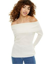 Charter Club Cashmere Off-the-shoulder Sweater, Created For Macy's - Multicolor