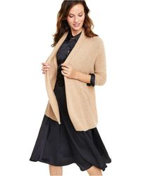 Charter Club - Petite Rolled-edge Pure Cashmere Cardigan - Lyst