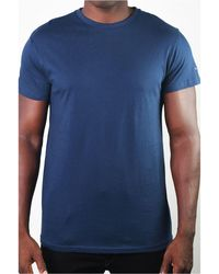 Members Only Basic Crew Neck Tee - Blue