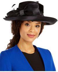 August Accessories Velvet Romantic-profile Dress Hat - Black