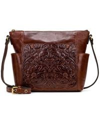 Patricia Nash Leather Aveley Crossbody - Brown