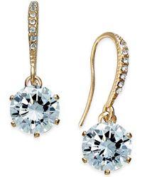 Charter Club - Gold-tone Cubic Zirconia Drop Earrings - Lyst