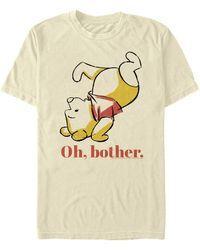 Fifth Sun Oh Bother Bear Short Sleeve Crew T-shirt - Natural