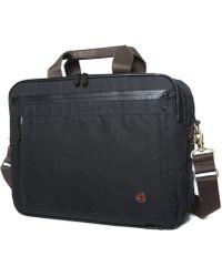 Token Waxed Briefcase - Black
