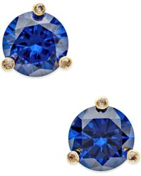 Kate Spade - Gold-tone Mini Round Stud Earrings - Lyst