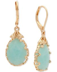 Lonna & Lilly - Gold-tone Imitation Pearl Drop Earrings - Lyst