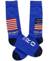 Polo Ralph Lauren Rl06 Sport Crew Socks - Blue