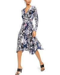 INC International Concepts - Inc Printed Wrap Dress, Created For Macy's - Lyst