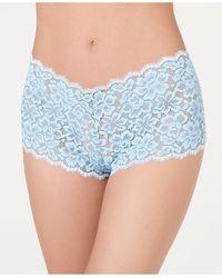 Maidenform Casual Comfort Lace Boyshort Underwear Dmclbs - Blue