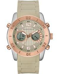 Sean John - Men's Analog-digital Concord Beige Silicone Strap Watch 47mm - Lyst